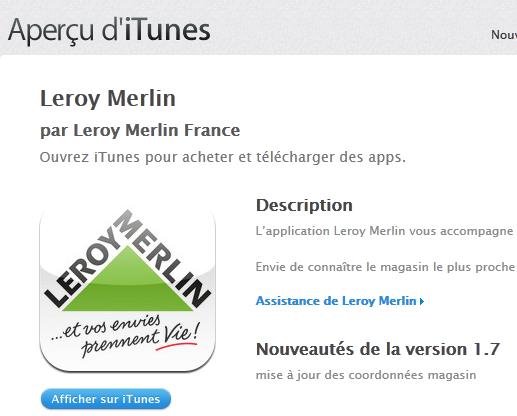Itunes Apple Leroy Merlin