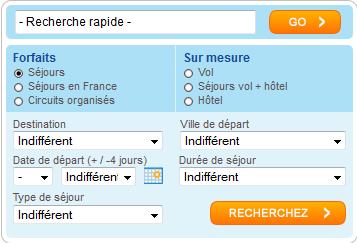 Recherche Carrefour Voyages