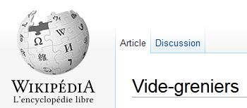 Wikipedia vide grenier.org