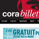 Billeterie Cora sur www.corabilletterie.fr
