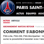 billetterie psg